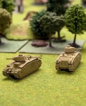 le char d'assaut français B1 Bis sans ses peintures de guerre