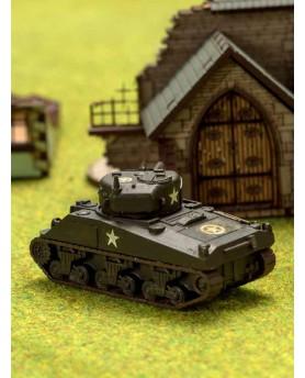 Ce char Moyen US  Sherman est compatible avec les figurines de 15 mm